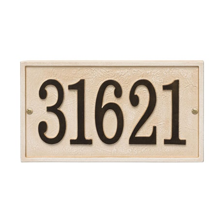 Personalized Stonework Rectangle Address Plaque