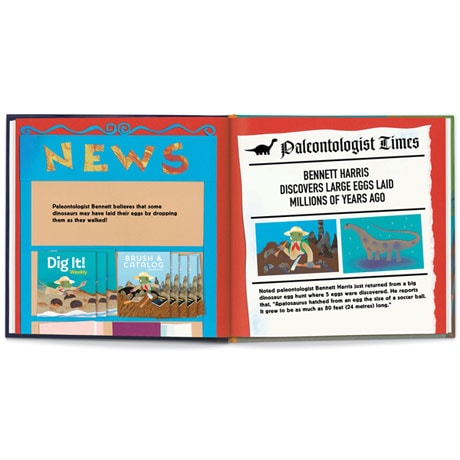 Personalized Dinosaur Egg Hunt Children's Storybook