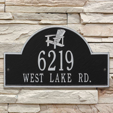 Personalized Adirondack Arch Address Plaque