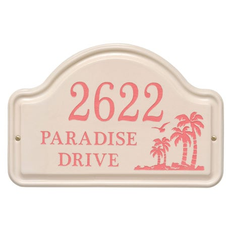 Personalized Palm Tree Arch Address Plaque