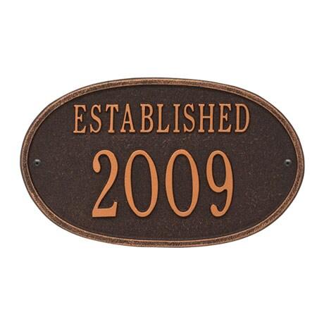 "Personalized ""Established"" Plaque"