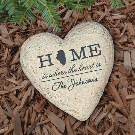Personalized Home State Family Name Garden Stone