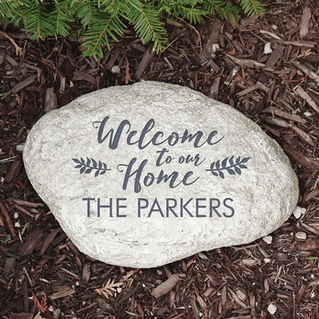 "Personalized ""Welcome"" Family Name Garden Stone"