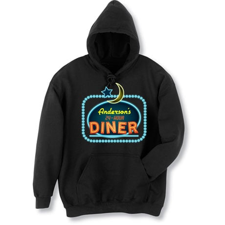 "Personalized ""Your Name"" 24-Hour Diner Tee"