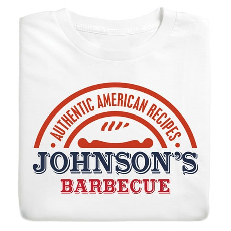 "Personalized ""Your Name"" Authentic Recipe BBQ Tee"