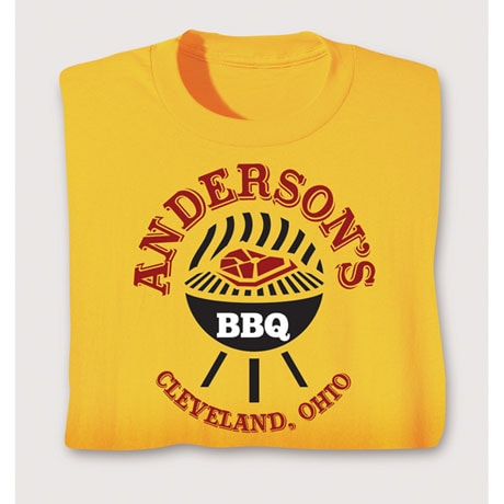"Personalized ""Your Name"" Charcoal Grill BBQ Tee"