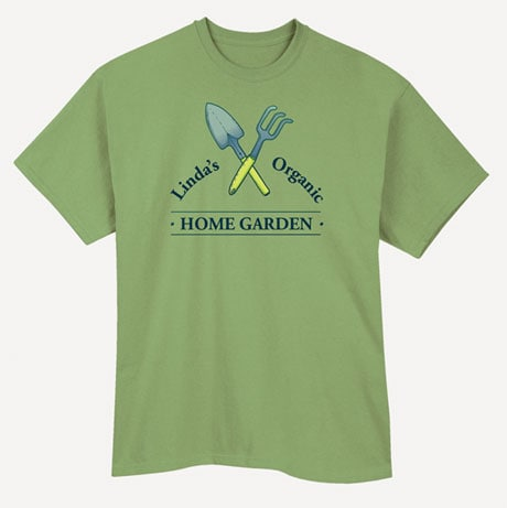 "Personalized ""Your Name"" Organic Home Garden Tee"