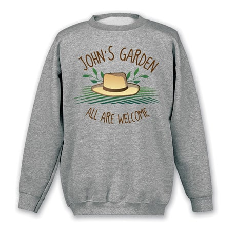 """Personalized """"Your Name"""" All Are Welcome Garden Tee"""