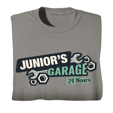 "Personalized ""Your Name"" 24-Hour Garage Tee"