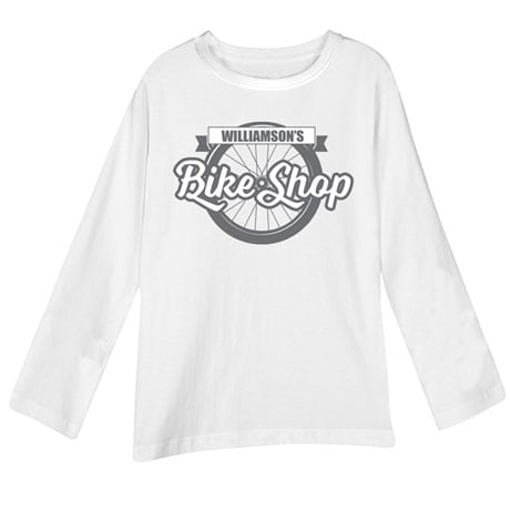 """Personalized """"Your Name"""" Bicycle Shop Tee"""