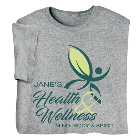 "Personalized ""Your Name"" Health & Wellness Club Tee"