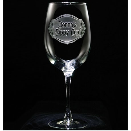 "Personalized ""Sippy Cup"" Wine Glass"