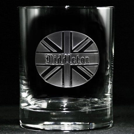 Personalized British Pride Whiskey Glass