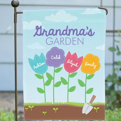Personalized Favorite Flowers Garden Flag