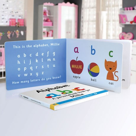 Personalized Learn the Alphabet Toddler Board Book
