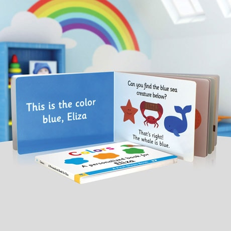 Personalized Learn Your Colors Toddler Board Book