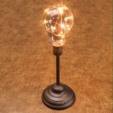 "Table Desk Accent Lamp - Classic Lamp Post 12"" H Metal LED Light"