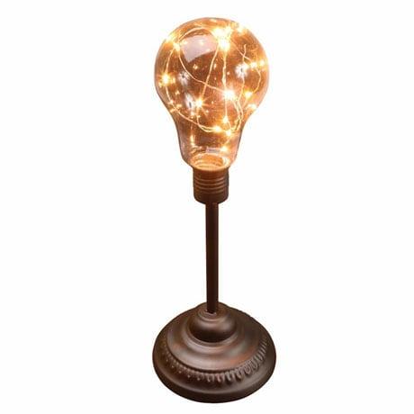 "Table Desk Accent Lamp - Classic Lamp Post 12"" H Metal LED Light"