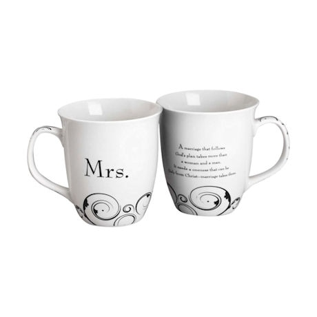 Mr. & Mrs. Stoneware Mug Set