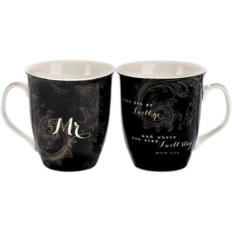 Mr. and Mrs. Together Forever Coffee Mugs Set of 2