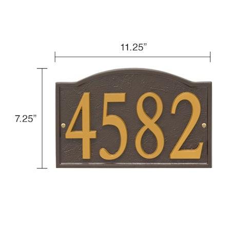 Personalized DIY Cast Metal Arch Address Plaque