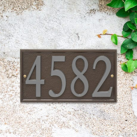 Personalized DIY Cast Metal Rectangle Address Plaque