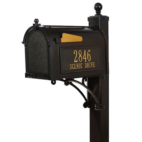 Whitehall Deluxe Capitol Mailbox and Post Package