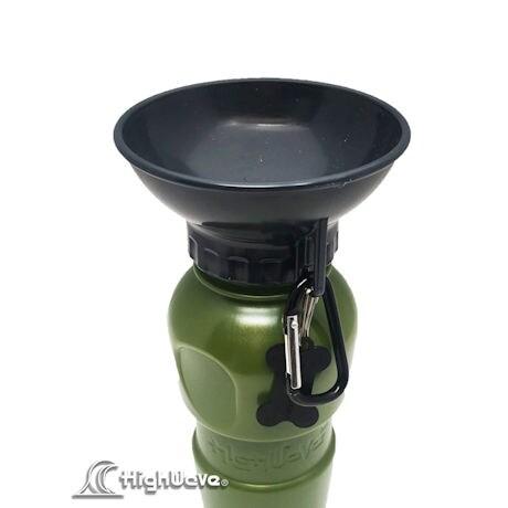 Highwave AutoDogMug Pet Sport Bottle - Portable Water Bowl - Holds 20 oz - Army Green