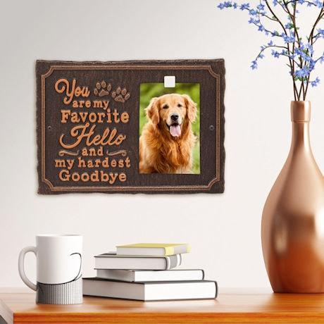 'My Favorite Hello' Pet Memorial Photo Plaque