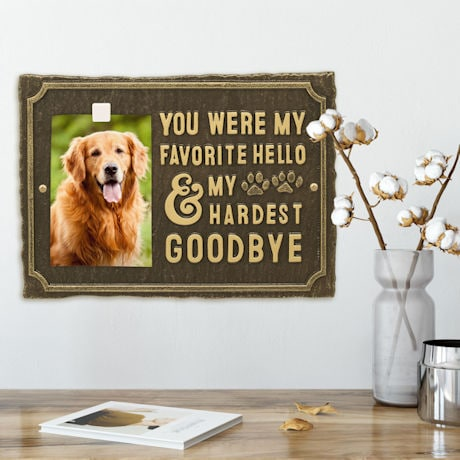 'My Hardest Goodbye' Pet Memorial Photo Plaque