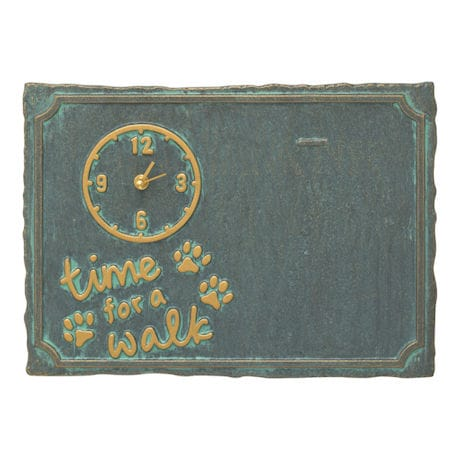 """""""Time For A Walk"""" Pet Photo Wall Clock"""
