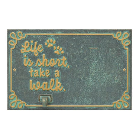 """Life is Short, Take a Walk"" Photo Leash Hook"