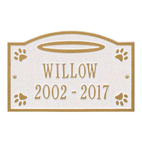 Personalized Angels in Heaven Pet Memorial Wall or Ground Plaque