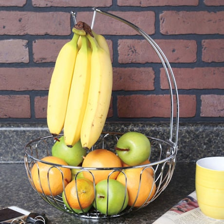 Wire Fruit Basket with Banana Hanger