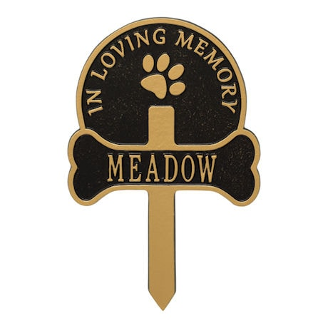 Personalized Dog Memorial Yard Plaque