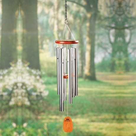 Amazing Grace Wind Chimes of Ash Wood and Aluminum
