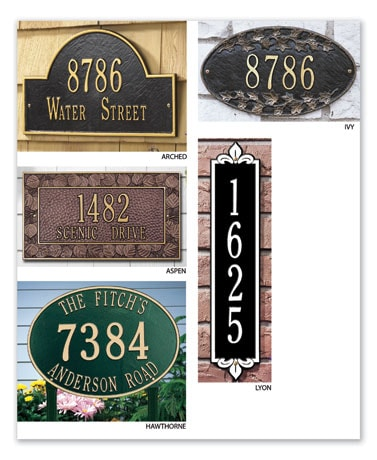 Personalized Address Plaque - Arch Lawn Marker