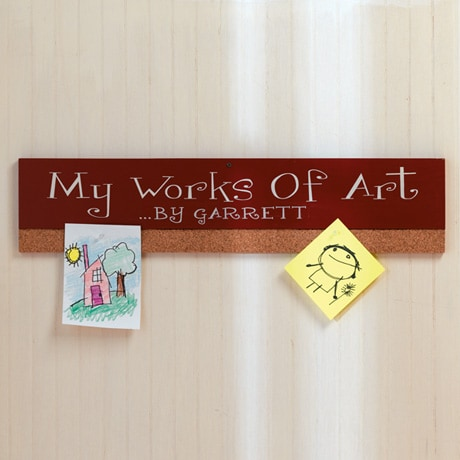Personalized Works Of Art Display Board