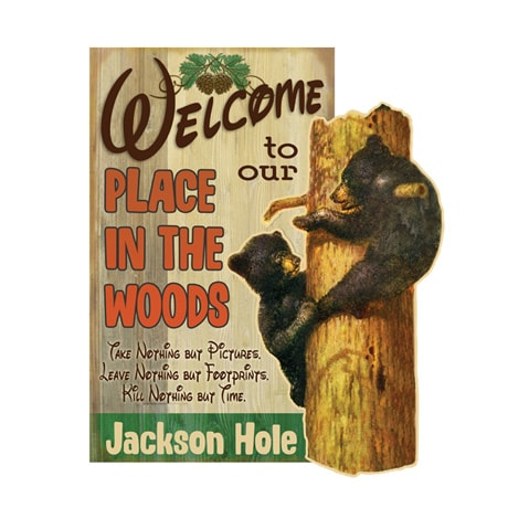 Personalized Place In The Wood Sign