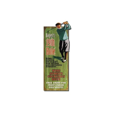 Personalized Golfer 19Th Hole Sign