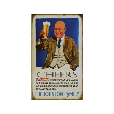 Personalized Cheers! Sign