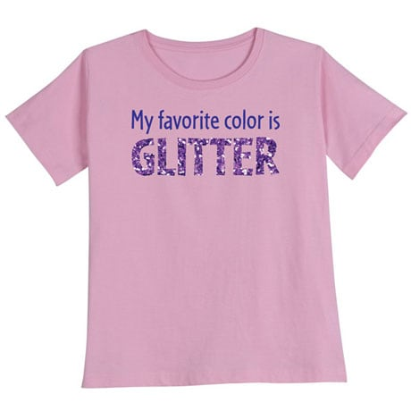 My Favorite Color is Glitter Women's T-Shirt in Pink