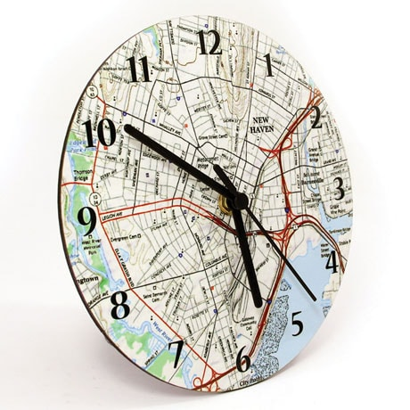 Personalized USGS Map Wall Clock