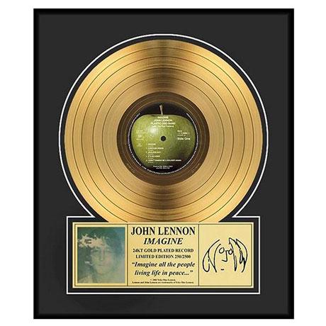 John Lennon Imagine Gold Record Collectible