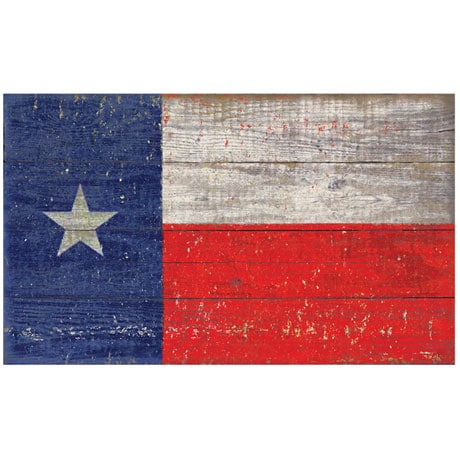 Wooden State Flag Sign Printed on Slatted Wood - All 50 States