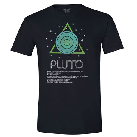 Pluto T-Shirt with Scientific Facts