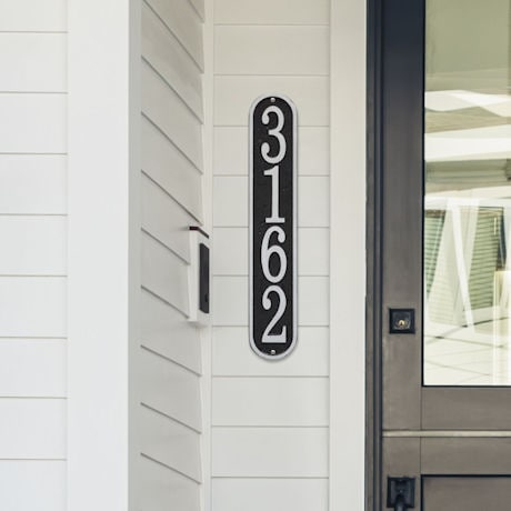Personalized Vertical House Number Plaque