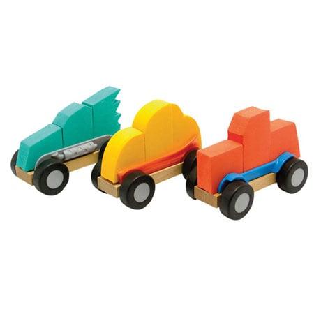 Fat Brain Toys Modmobiles Car Toys Mix & Match Set