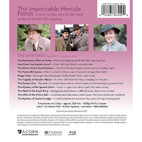 Agatha Christie's Poirot: Series 3 DVD & Blu-ray