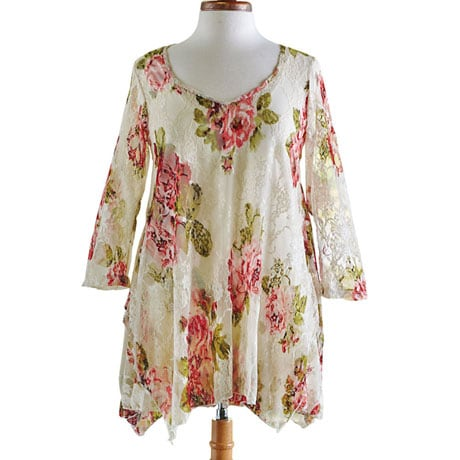Victorian Roses Two-Piece Tunic Top